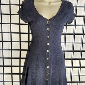 Vintage Jay Jacobs Button front knit dress mini Sm
